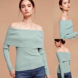 Aritzia Wilfred Croquis Off Shoulder Sweater